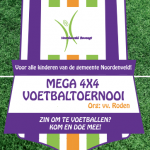Kinderen zélf de grote winnaars bij het Mega 4x4 voetbaltoernooi.